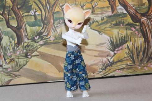 Freyr posing, dressed in My Scene clothing