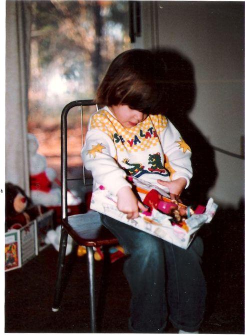 Me as a kid opening a Skipper Doll