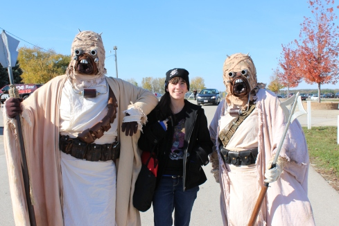 Star Wars characters from the Midwest Garrison at the show (and me!)