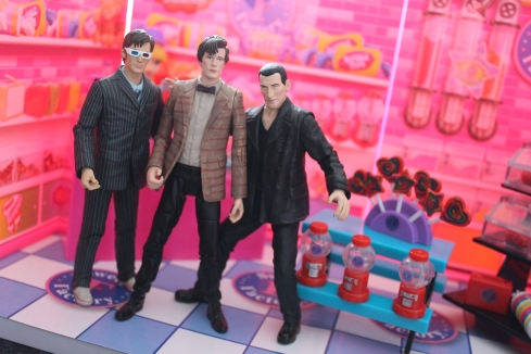 The Three Doctors at the Sweet Factory