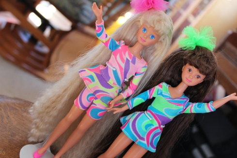 Totally Hair Skipper (left) and Courtney (right)