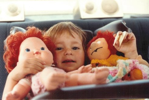Little Courtney with Strawberry Shortcake and Pumuckl