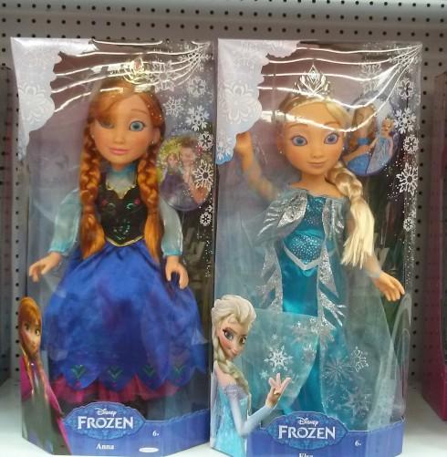 Disney Anna and Elsa dolls