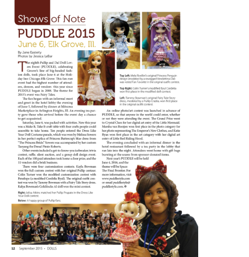 Dolls, Sept 2015, Coverage